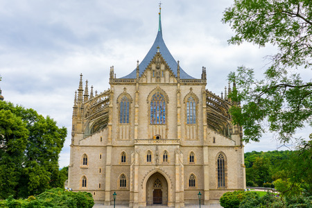Church of Saint Barbara a Roman Catholic church in the Gothic Style at  Kutna Hora Czech Republic Europe Stock Photo