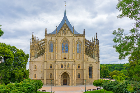 ceska: Church of Saint Barbara a Roman Catholic church in the Gothic Style at  Kutna Hora Czech Republic Europe Stock Photo