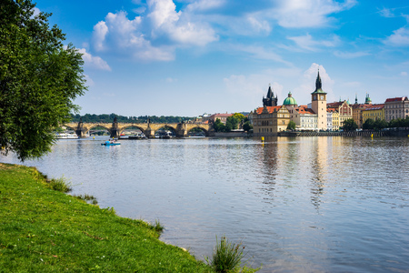 shooters: View from the park on Shooters Island Prague Czech Republic Europe