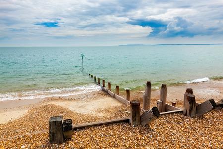 Shingle beach at  Bound Lane, Hayling island Hampshire England UK Europe
