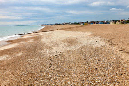 shingle beach: Shingle beach at  Bound Lane, Hayling island Hampshire England UK Europe