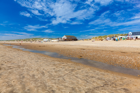 Golden sandy beach at Camber Sands East Sussex England UK Europe