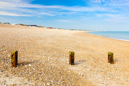 sussex: The shingle Pagham beach West Sussex England UK Europe
