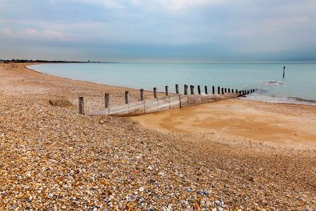 The shingle Pagham beach West Sussex England UK Europe