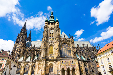 The Metropolitan Cathedral of Saints Vitus, Wenceslaus and Adalbert in the city of  Prague, Czech Republic Europe
