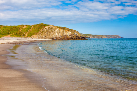 Sandy beach at Kennack Sands on the Lizard Peninsula Cornwall England UK Europe