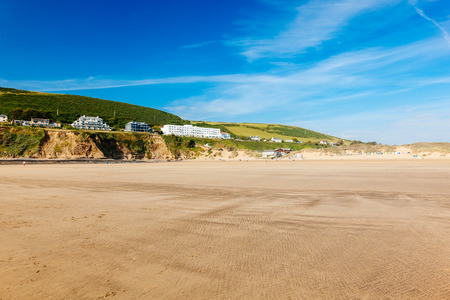 Sandy beach at Saunton Sands  Devon England UK Europe Stock Photo