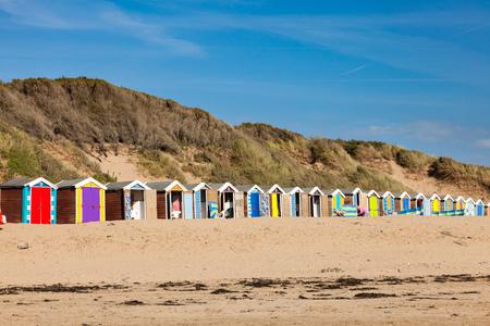 Beach Huts at Saunton Sands  Devon England UK Europe