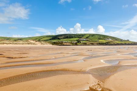 Beautiful golden sandy beach at Croyde Beach Devon England UK Europe