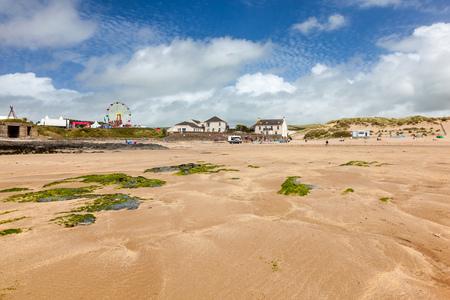 Beautiful golden sandy beach at Croyde Beach Devon England