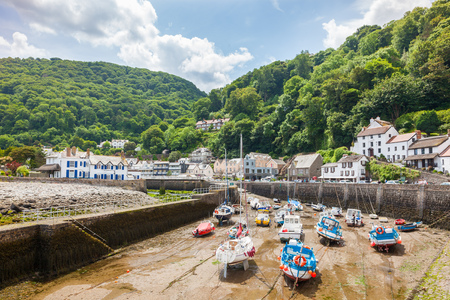 Harbour at Lynmouth in Exmoor National Park Devon England UK Europe