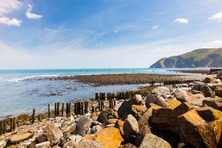 Coast at Lynmouth in Exmoor National Park Devon England UK Europe