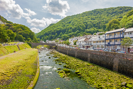 The river Lyn at Lynmouth in Exmoor National Park Devon England UK Europe