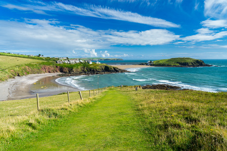 Views overlooking Challaborough Bay and Burgh Island South Hams Devon England UK Europe