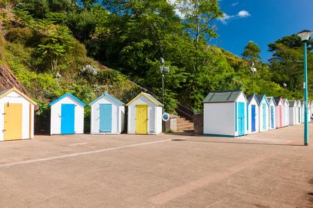 Beach huts at Goodrington Sands Devon England UK Stock Photo