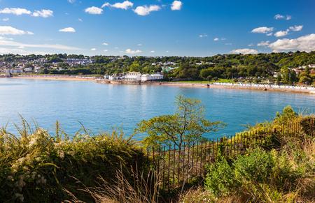 Overlooking the beautiful coastline at Goodrington Sands Devon England UK Stock Photo
