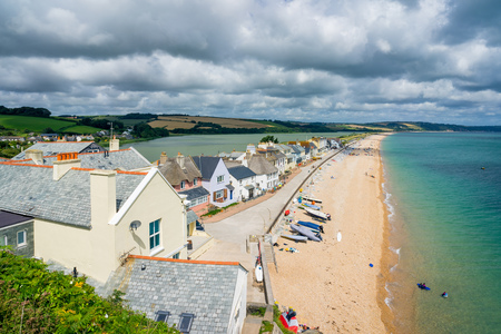 Overlooking the seaside village of Torcross in the South Hams region of Devon England UK Europe Stock Photo