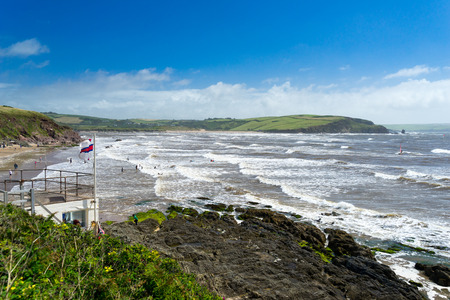 Coastline at Bigbury-On-Sea South Hams Devon England UK Europe