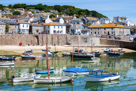 The beautiful village and harbour at Mousehole near Penzance Cornwall England UK Europe Archivio Fotografico