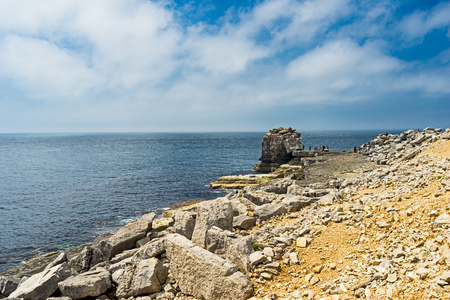 View towards Pulpit Rock Portland Bill Dorset England UK Europe Imagens