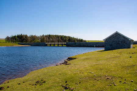 Sunny day at Crowdy Reservoir on Bodmin Moor Cornwall England UK Europe Banco de Imagens