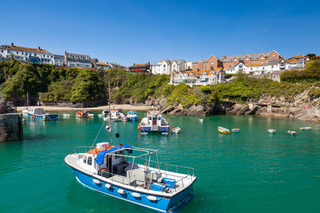 Stunning summer day at Newquay Harbour on the North Cornish Coast. Cornwall England UK Europe