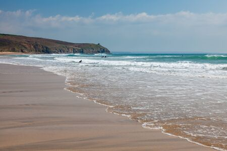 The beach at Sydney Cove at Praa Sands Cornwall England UK