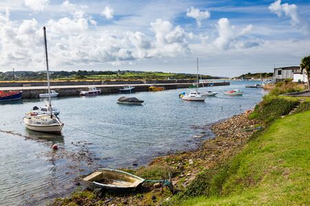 The historic harbour at Hayle Cornwall England UK Europe Stock Photo