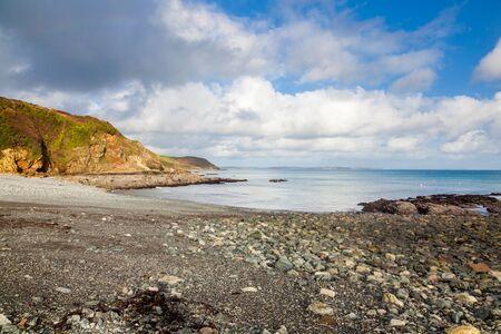 The shingle beach at Porthallow on the Lizard Peninsula Cornwall England UK Europe