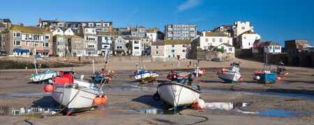 Sunny day at St Ives Harbour a popular tourist destination in  Cornwall England UK Europe Stock Photo