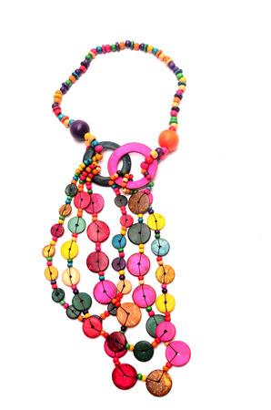 ladylike: Colorful beaded necklace