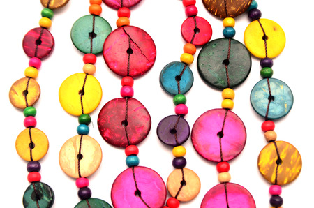 beaded: Colorful beaded necklace