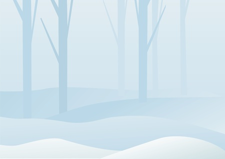 winter forest landscape Stock Vector - 8676009