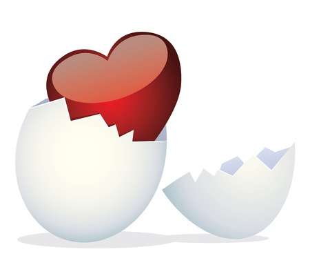 Egg and Valentines Day. Vector