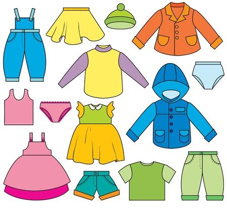 Un insieme di tipi diversi di abbigliamento