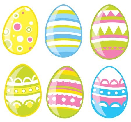 colored egg: Easter eggs set