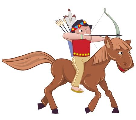 redskin: American Indian on horseback