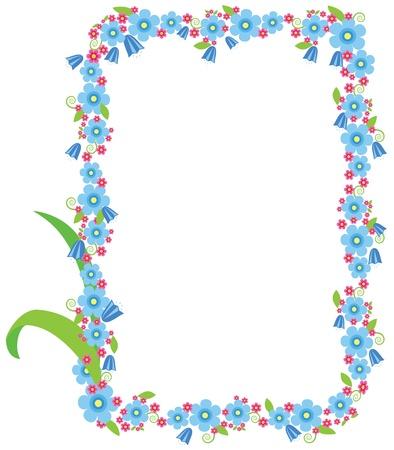 floral border frame: Floral frame. Vector image