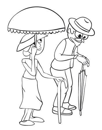 Senior Citizens.  Stock Vector - 9400196