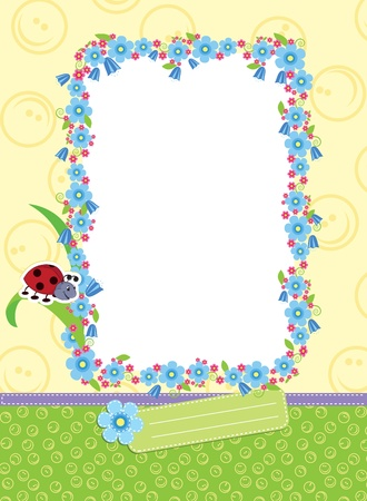Floral child frame. Stock Vector - 9400195