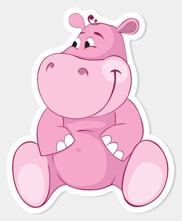 Pink behemoth sticker