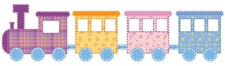 Babies train Ilustrace