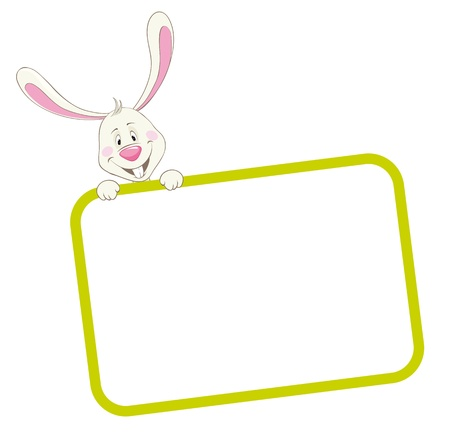 Label frame rabbit Stock Vector - 9934122