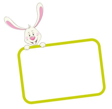 Label frame rabbit Stock Vector - 9934122