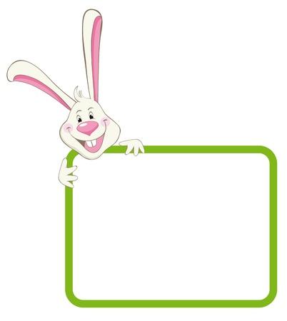 Label frame rabbit Ilustração