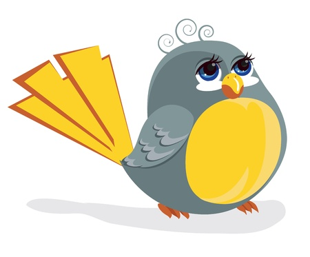 Funny bird Stock Vector - 10477873