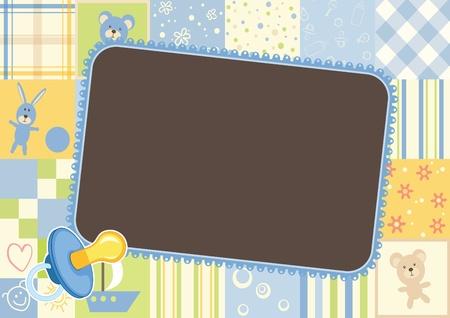 cartoon frame: Boys children frame - border of the patterns
