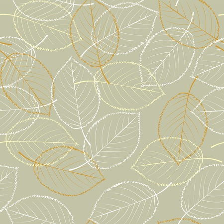 Seamless vector background - autumn leaves Stock Vector - 11140704