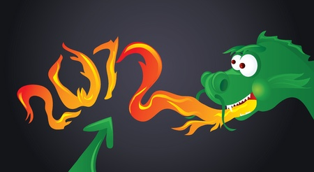 Year of Dragon - 2012 Vector