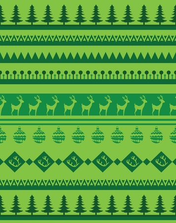 Set of Christmas patterns -  seamless brashes Vector